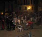 la piazza in Buggio venerdi luglio 26, 2014